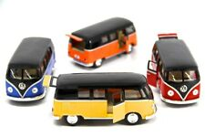 "Set of 4 New 5"" Kinsmart 1962 VW Volkswagen Classical Bus Diecast Model Toy 1:32"