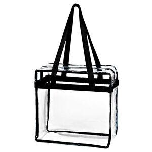 clear tote bag zipper NCAA stadium PGA approved 12 x 12 x 6