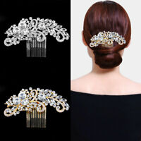 Wedding Bridal Silver & Gold Crystal Hair Pins Bridesmaid Clips Diamante Comb