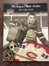 Jacques Plante 2006 Hockey Auction Catalog Howie Morenz Maurice Richard WHA ++