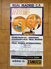 Cartel lV Torneo Bernabéu Hamburguer SV Girondin Standard Lieja Real Madrid