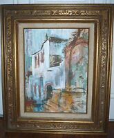 Hand Painted Original John Heritage Wright Oil Painting Fountain San Miguel