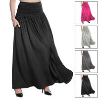 Women High Waist Flared Pleated Long Dress Gypsy Maxi Skirt S-5xl Plus Size