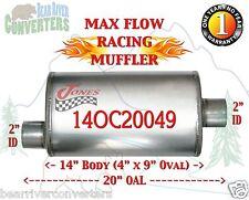 "Max Flow Muffler 14"" Oval Body 2"" Pipe Offset/Center 20"" OAL 14OC20049"