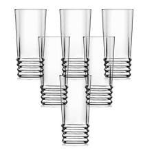 LAV Elegant Set of 6 Highball Glasses Long Drinking Glass Clear Tumblers