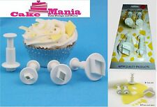 SET 4 TAGLIAPASTA ESPULSIONE A FORMA DIAMANTE PME DIAMOND CAKE DESIGN