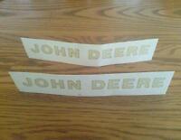 Two Nice John Deere Logo Decals  3/4 inch x 8 inch