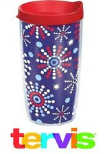 set of 7 Tervis Tumbler FireWork Display 4th of July Red White Blue 16Ounce Cups