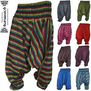 Aladin-Pump-Hose Yoga goa pants hippie indien inde Jumpsuit Harem pantalon nepal