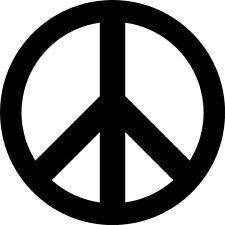 Peace Sign Vinyl Sticker Decal - Choose Size & Color