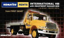 1/34 KOMATSU RENTS YELLOW IRON FEVER HAULER SLIDE BACK  First Gear MINT 1st Rare
