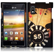 For LG Optimus Extreme L40G Rubberized Snap On HARD Case Phone Cover Ace Poker