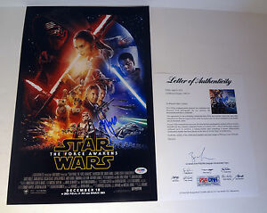 Harrison Ford Signed Star Wars The Force Awakens Movie Poster PSA/DNA COA #2