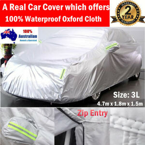 Durable 100% Waterproof Oxford Cloth Car Cover fits Peugeot 407 408 Medium size