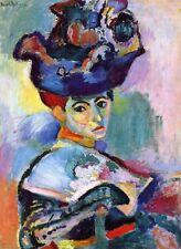 Poster Arte Henri Matisse DONNA CON CAPPELLO Femme au chapeau Espressionismo