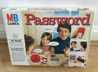 VINTAGE PASSWORD BOARD GAME BY MB GAMES  1978 Age 10+ Complete