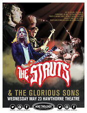 THE STRUTS / GLORIOUS SONS 2018 PORTLAND CONCERT TOUR POSTER - Glam Rock Music