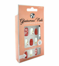 W7 Glamorous Nails Stick On Nails - Crown Jewels - False Fake Nude Square Nails