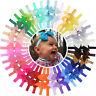 40pcs 4 Inch Grosgrain Ribbon Hair Bows Headbands for Baby Girls Infants Toddler