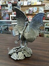 awesome ballena bay pewter and crystal dragon statue 13 inches by 9 inches