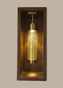 Handmade Moroccan Brass Antique Cylinder for niches Wall Decor