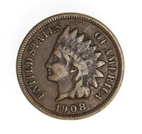 1908 INDIAN HEAD CENT ++ FULL LIBERTY ++ FREE SHIPPING ++