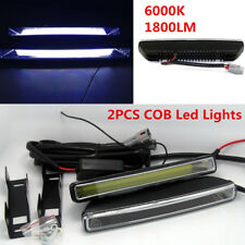 2Pcs Universal Car 20W COB 6000K Xenon White LED Light DRL Driving Fog Lamps