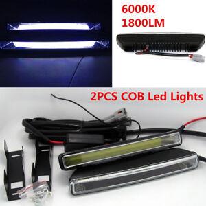 2Pcs Universal Car 20W COB 6000K Xenon White LED Light DRL Driving Fog Lamps