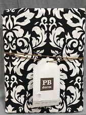 Pottery Barn PB Teen Black Damask Twin Duvet Cover