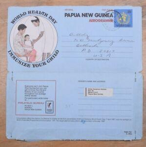 Mayfairstamps Papua New gUinea 1987 World Health Day Mendi to US Aerogramme wwp1