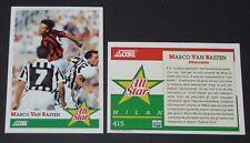 415 MARCO VAN BASTEN MILAN AC FOOTBALL CARD 92 1991-1992 CALCIO ITALIA SERIE A