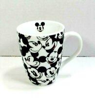 Disney Mickey Mouse Mug w/handle Disneyland Walt Disney World White Black