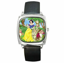 Snow White and grumpy happy family leather watch