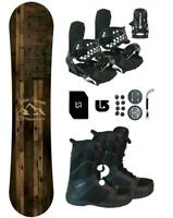163 Symbolic Freedom WIDE Snowboard+Binding+Boot Package+Stmp+Lsh+Mask+burton 3d