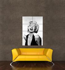 Poster impression photo portrait FILM ACTRICE MARYLIN MONROE rire seb911