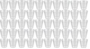 100 X Quality Clear Hard Plastic Disposable 20ml Party Shot Glasses 1oz 2cl