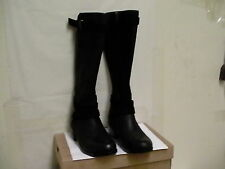 Women's UGG Darcie black leather Boots riding 1004172 Black Size 12