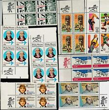 US - Packet of 11 Zippy Airmail  Blocks  of 4 - all different  - MNH - B8987