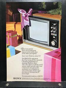 Sony - The New Trinitron Colour TV - £192.50 - 1971 Press Cutting r374