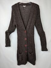 LAURIE B WOMENS BROWN WOOL MOHAIR BLEND Button Cardigan Sweater SZ L