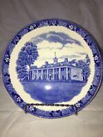 "Antique 7.5"" Mt. Vernon Plate, Old English Staffordshire Ware, Blue"