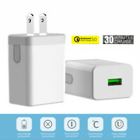 1pc Quick Charge 3.0 USB Fast Wall Charger 18W Travel Wall Fast Charger Adapter