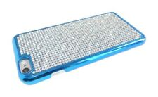 iPhone 5 5S SE Case Blue Diamond Diamante Hard Back