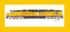 "Union Pacific DDA40X #6900 10""x17"" print in 10""x20"" Mat Andy Fletcher signed"