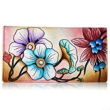 Anna by Anuschka Ladies Wallet 2 Fold 3 ID Floral Beriies