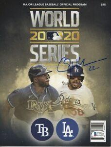 Clayton Kershaw Signed Autographed 2020 World Series Program Dodgers BAS WF10680