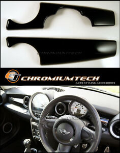 MK2 MINI Cooper/S/ONE/JCW R55 R56 R57 R58 R59 BLACK Dashboard Panel Cover LHD