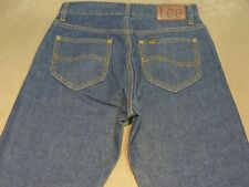 025 WOMENS NWOT LEE 'MISFIT' (SEMI CURVED) STR8 CUFF BLUE GRAIN JEANS 10 $140.