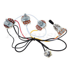 guitar 3 way switch chrome guitar wiring harness 2 volume 1 tone pots 500k 3 way toggle switch chrome