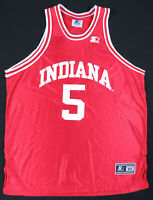 Vintage 90s Indiana Hoosiers Starter NCAA Basketball Red #5 Jersey 52 XL